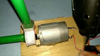 How to make Mini Water Pump 12v from hp card. Cara membuat Pompa Air Mini 12v dari bekas kartu hp