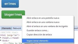 Como usar el inspector de elementos 1 de 2