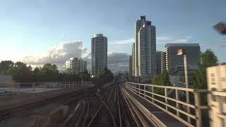 Vancouver SKYTRAIN FULL RIDE: CANADA LINE INBOUND END-TO-END from Richmond Brighouse to Waterfront