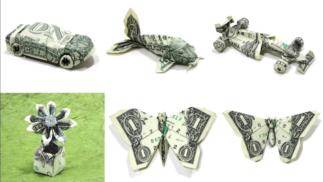 Dollar Koi Fish Origami Tutorial (Won Park) - YouTube | 720x1280