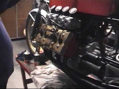 Build A Motorcycle >> Home-made V8 motorcycle - YouTube