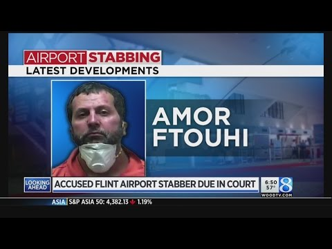 Flint airport stabbing suspect back in US court Wednesday