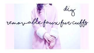 DIY Faux Fur Cuffs / 簡単DIY / 옷만들기 / 手作教學 / Costura / Sewing Tutorial   madebyaya