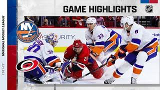 Islanders @ Hurricanes 10/14/21 | NHL Highlights