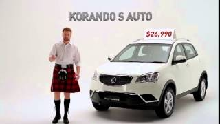 1232_SSANGYANG KORANDO S AUTO best class | lowest price vehicle_Tv commecials ads