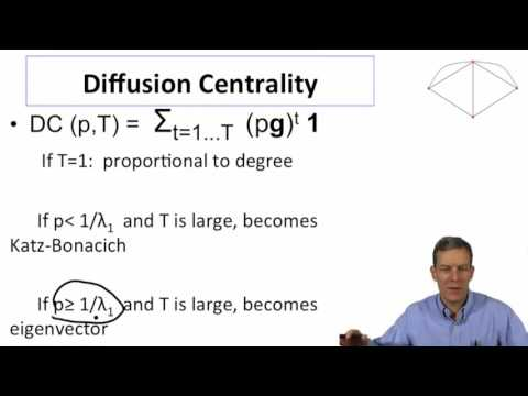 Social and Economic Networks 2.5b Week 2: Application Diffusion Centrality