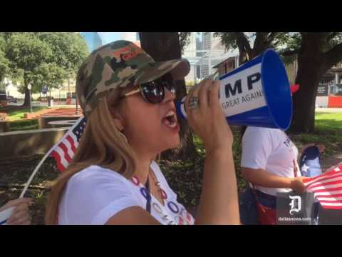 Trump supporters protest The Dallas Morning News