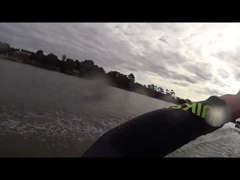 Scott catchin grapes and standing up on a kneeboard