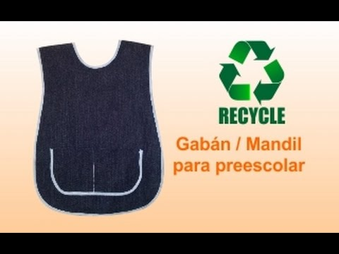 RX:  DIY ¿Cómo hacer... Gabán / Mandil preescolar infantil? (házlo con material reciclado)