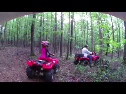 Yamaha Grizzly 350, Rancher 420, and Honda Recon 250 mudding and trail riding