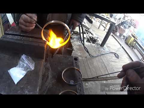 видео: паяем серебром кольца токосьемника , начало вахты