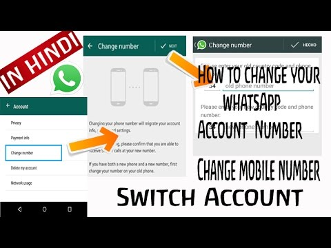 How to Switch WhatsApp Account | Change Mobile number without loosing  Groups and Chats