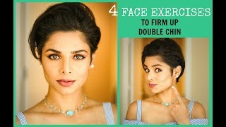 FIRM UP DOUBLE CHIN/Lose Face Fat/ FACE EXERCISES TO TONE JAW LINE