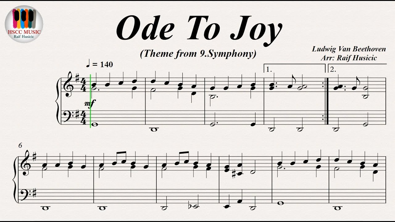 Ode To Joy Ode An Freude Symphony No 9