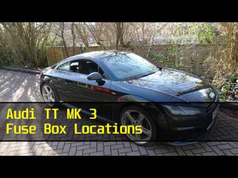 audi tt mk 3 fuse box locations youtube rh youtube com audi tt mk1 fuse box diagram 2002 audi tt fuse box diagram