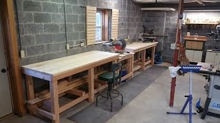 This video serves as a step by step how-to guide to building a professional style workbench for your woodshop or workshop. If you
