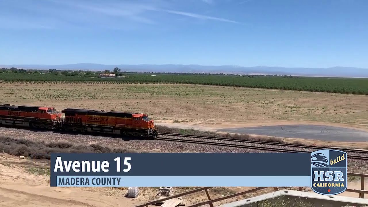 The newly constructed overpass on Avenue 15 in Madera County is now open. It allows traffic to flow over the existing BNSF railroad tracks and the future high-speed rail system.