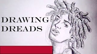 How to Draw dreads (real time)