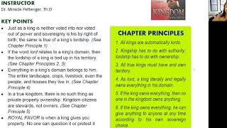 2020_1015 PWAM Bible Study: Kingdom Principles - Chapter 5 - The KINGDOM LORD - Part 1
