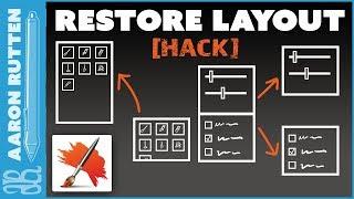 Restore Palette Locations After Factory Reset (Corel Painter Hack)