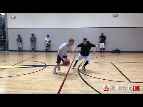 Professor Almost LOSES vs Good Shooter... Goes half speed... 90% Fundamental Moves