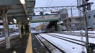 キハ100形盛ハヘ100-200編成快速しもきた3534D東青森到着→発車