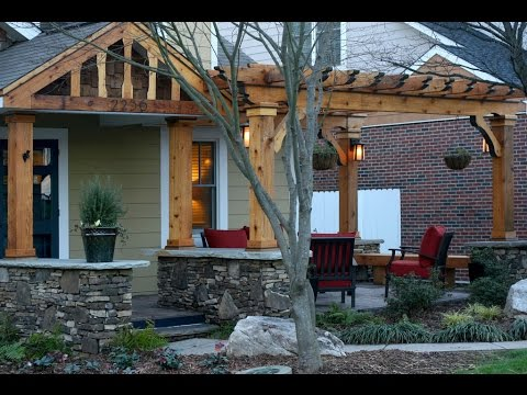 Front porch pergola youtube for Front porch add ons