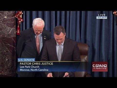 Senate Prayer from Rev. Chris Justice (C-SPAN)