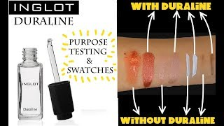 INGLOT DURALINE Mixing Medium For Pigments And Dried Up Makeup - Review And Testing