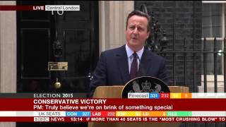david cameron s downing street speech election 2015 results bbc news