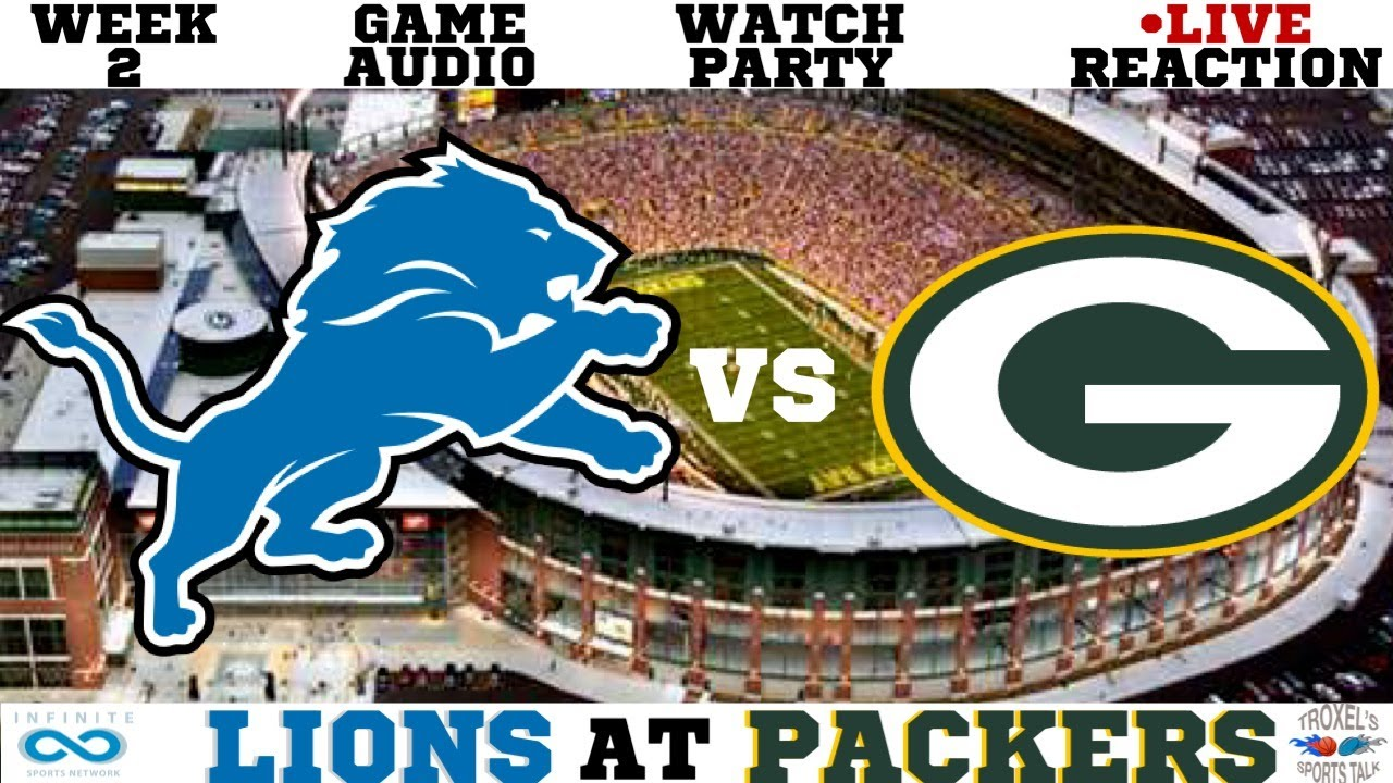 Detroit Lions Vs Green Bay Packers Week 2 Nfl Game Audio Reactions Scoreboard Youtube