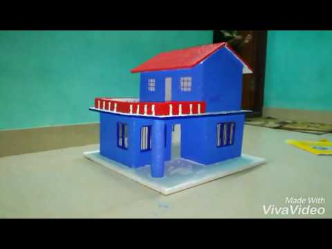 Thermocol House Model For School Project