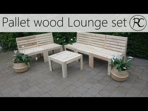 Making A Pallet Wood Outdoor Lounge Set