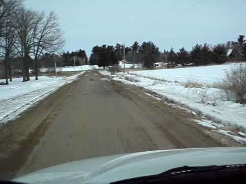 Minnesota winter  country  roads in a garbage truck