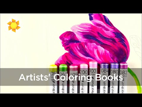 Artists Coloring Book Pepin : Artists coloring books clean color pen labels youtube