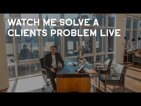 Watch Me Solve A Clients Problem LIVE!