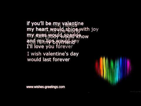 Valentine Poems Kids For Boyfriend