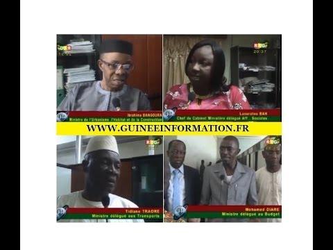JT RTG DU 22.12.2013. Ibrahima Bangoura, Ministre Urbanisme: aucun projet pris