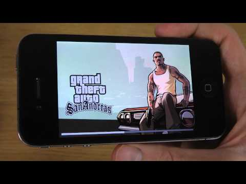 iPhone 4 iOS 7.1 Final - GTA San Andreas HD Gameplay Test