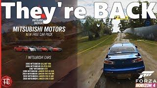 Forza Horizon 4: FREE Mitsubishi CAR PACK Coming Tomorrow!! NEW Update, Gameplay, and MORE!