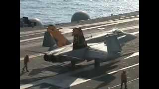F/A18ホーネット発艦~着艦シーン