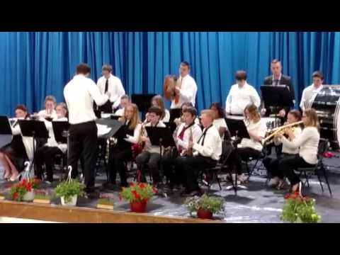 05 16 2016 Newcomerstown High School Band 01 Tyler Conducting 8th Grade