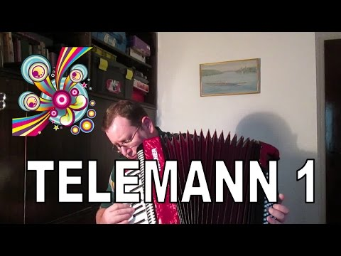 G. P. Telemann Bassoon Sonata Accordion 1st Movement