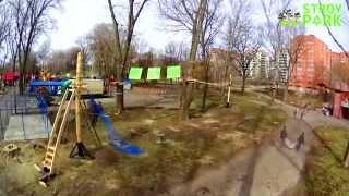 7 дней строительства НОВОГО маршрута в ВЕРЕВОЧНОМ Парке за 100 сек от компании Stroy-Park(Процесс строительства 6-го маршрута Веревочного Парка
