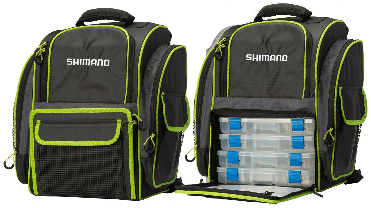 Shimano Back Pack With 4 Tackle Boxes Youtube