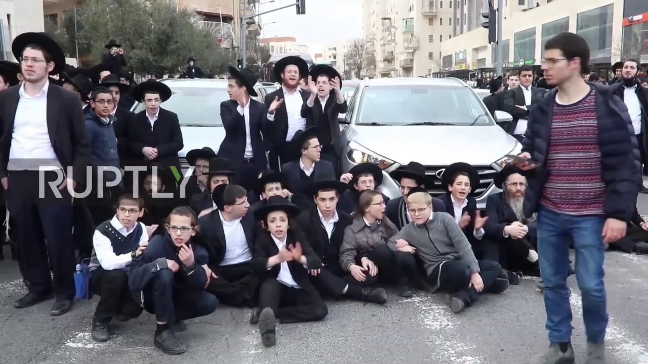 Israel: Dozens arrested as police disperse ultra-Orthodox protest in  Jerusalem