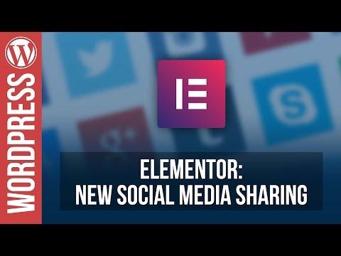 ELEMENTOR: New Social Sharing Widget Tutorial - 동영상