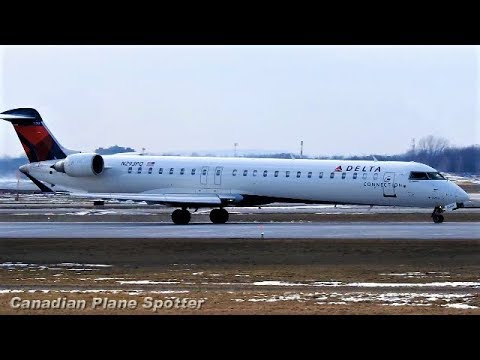 Delta Connection CRJ-900 in Action at Montreal-Trudeau Int'l Airport