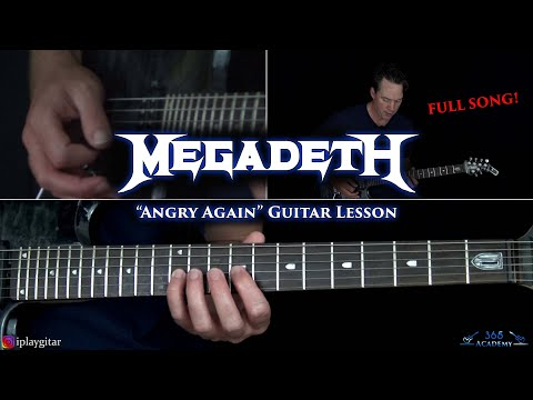 Megadeth - Angry Again Guitar Lesson (FULL SONG)