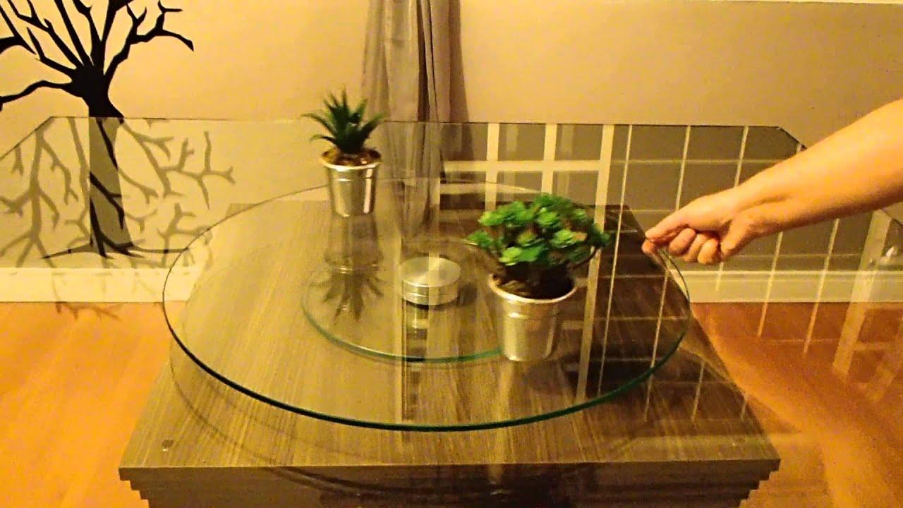 Prato giratorio tampo de vidro youtube - Mesa de centro giratoria ...